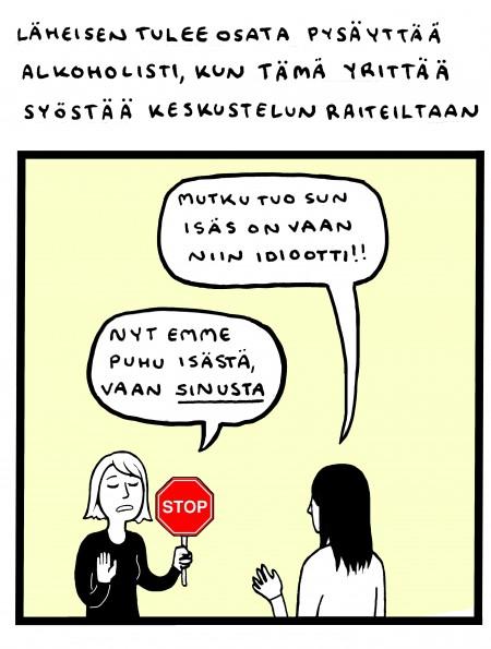 alkoholistin hoitoon saaminen Tampere